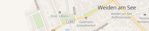 Karte Bahnhof Weiden am See