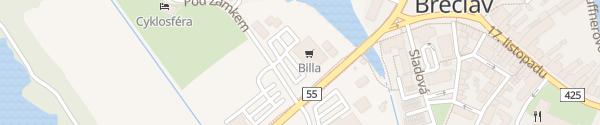 Karte Billa Břeclav