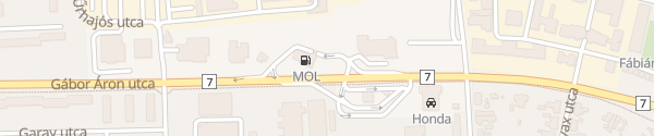 Karte MOL Tankstelle Nagykanizsa