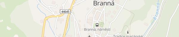 Karte Kolštejn wellness centrum Branna