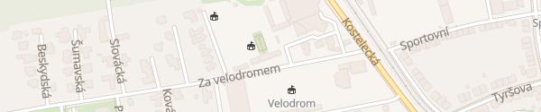 Karte Hotel Tennis Club Prostějov