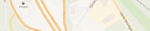 Karte McDonald's Fjärdingsvägen Gävle
