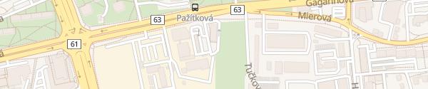 Karte McDonald's Bratislava