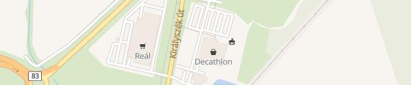 Karte Decathlon Győr