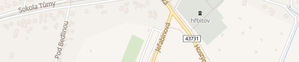 Karte Záchytné parkoviště Hostýn Bystřice pod Hostýnem