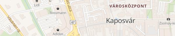Karte Parkoló Ady Endre utca Kaposvár