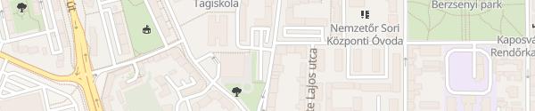 Karte Honvéd utca Kaposvár
