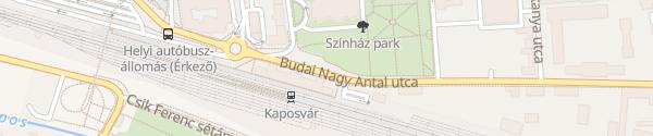 Karte Budai Nagy Antal utca Kaposvár