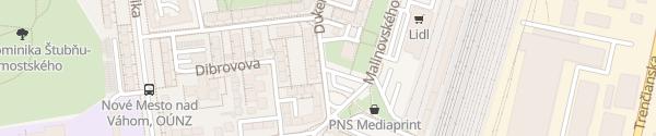 Karte Dukelská Nové Mesto nad Váhom