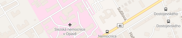 Karte Slezská nemocnice Opava