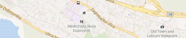 Karte Parking Central Dubrovnik