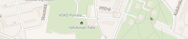 Karte Střední škola služeb a podnikání Ostrava