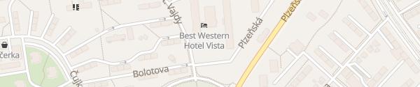 Karte Best Western Hotel Vista Ostrau