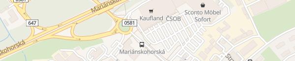 Karte Kaufland Ostrava-Mariánské Hory a Hulváky