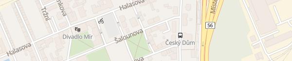 Karte CEZ Ladesäule Ostrava