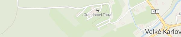 Karte Grandhotel Tatra Veľké Karlovice