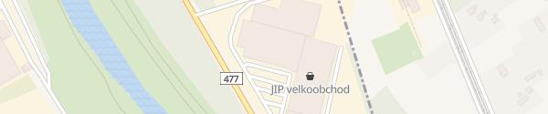 Karte JIP Potraviny Ostrava-Hrabová