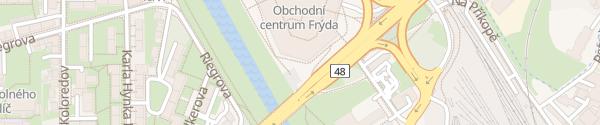 Karte OC Frýda Shoppingcenter Frýdek-Místek