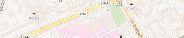 Karte Nemocnice Orlová