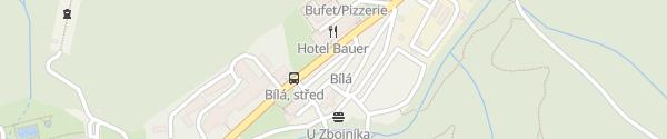 Karte SKI areál Bílá Staré Hamry