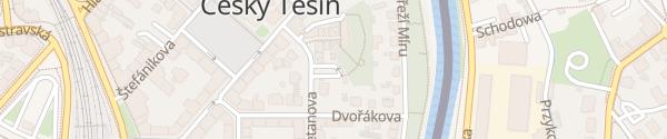 Karte Parkoviště Smetanova Český Těšín