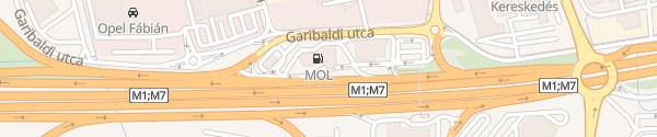 Karte MOL Budaörsi északi Budaörs