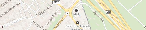 Karte MOl Tankstelle Diósd