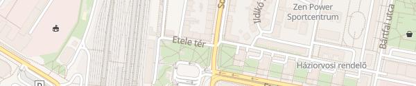 Karte RWE Ladesäule Budapest