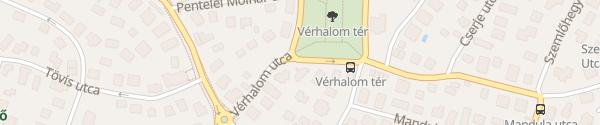 Karte Vérhalom tér Budapest