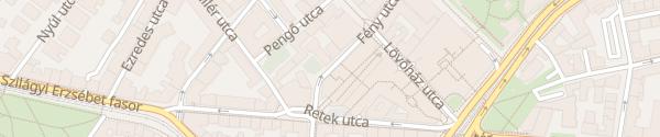 Karte Fény utca Budapest