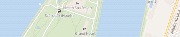 Karte Grand Hotel Margitsziget Budapest