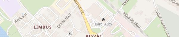 Karte MOL Tankstelle Vác