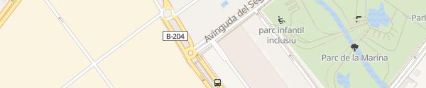 Karte Centro Comercial Vilamarina Viladecans