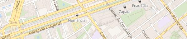 Karte Centro Comercial L'Illa Diagonal Barcelona