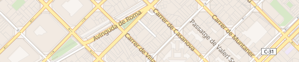 Karte Hotel Acevi Villarroel Barcelona