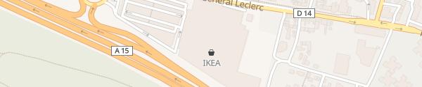 Karte IKEA Franconville