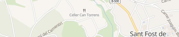 Karte Celler Can Torrens San Fausto de Campcentellas