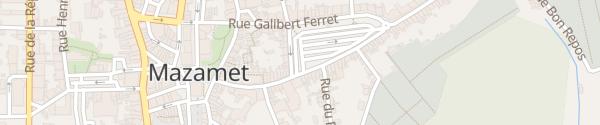 Karte Parking du Champ de la Ville Mazamet