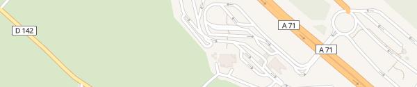 Karte Aire du Centre de la France Ouest Farges-Allichamps