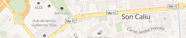 Karte Cepsa Tankstelle Palmanova
