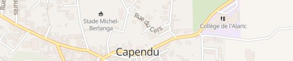 Karte Parking Pole Santé Capendu