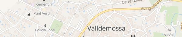Karte Parkplatz Valldemossa