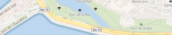 Karte Parc de la Mar Palma