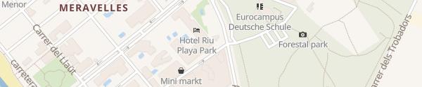Karte Hotel RIU Playa Park Palma