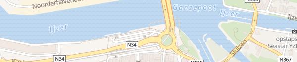 Karte Parkplatz am Kai Nieuwpoort