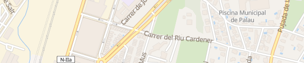 Karte Carrer del Riu Cardener Girona