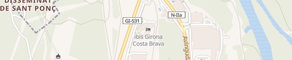 Karte Tesla Supercharger Girona