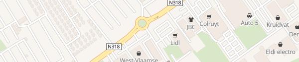 Karte Lidl Middelkerke