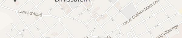 Karte Plaça Carrer de sa Quartera Binissalem
