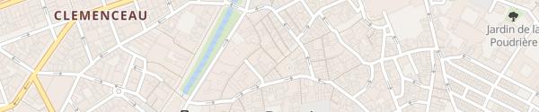 Karte Hotel De La Loge Perpignan